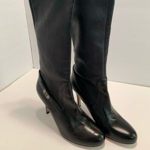 Coach Knee High Heeled Leather Boots